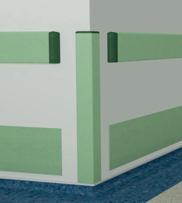 Acabamentos, Proteção parede, proteção de esquinas, proteção de cantos, proteção vinílica, proteção contra danos e impactos, proteção antibacteriana