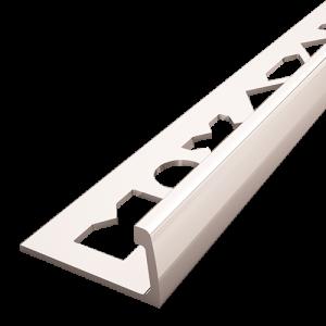 Perfil de acabamento em alumínio, Perfis de bordo reto para cerâmica