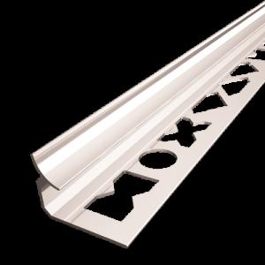 Perfil de canto em alumínio para cerâmica, Perfil de acabamento moxdecor, Perfil de bordo curvo premium