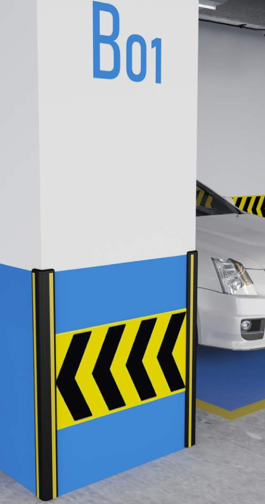 Proteção de esquinas em TPE, Proteções para garagens e parques de estacionamento
