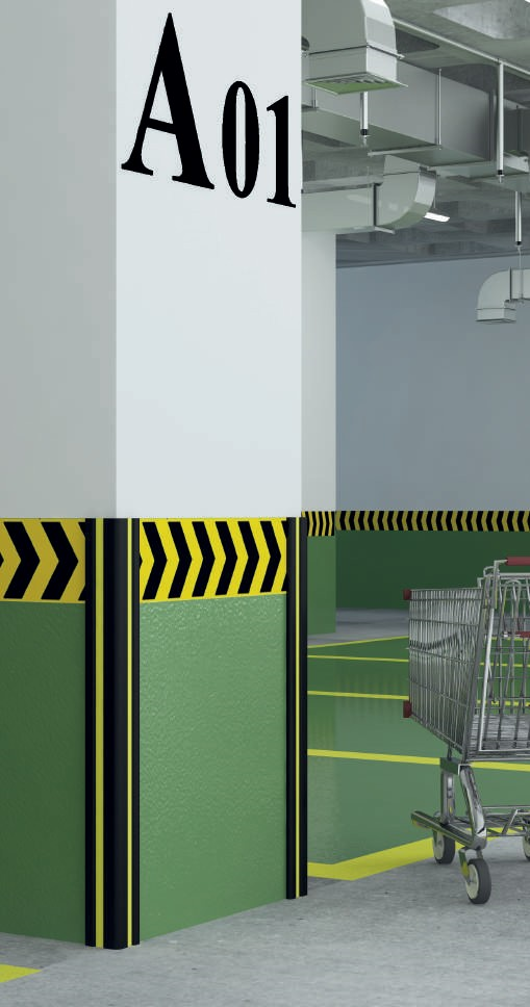 proteção de pilares, proteção de esquinas, proteções em borracha
