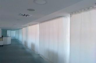 Sistema de cortinas hospitalares, Calhgas hospitalares MTS, Cortinas antibacterianas, Cortinas para hospitais e lares