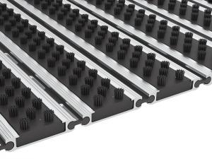 Tapetes de entrada em aluminio